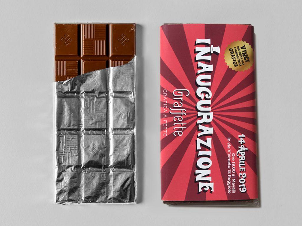 Tavoletta di cioccolato inaugurazione Graffette
