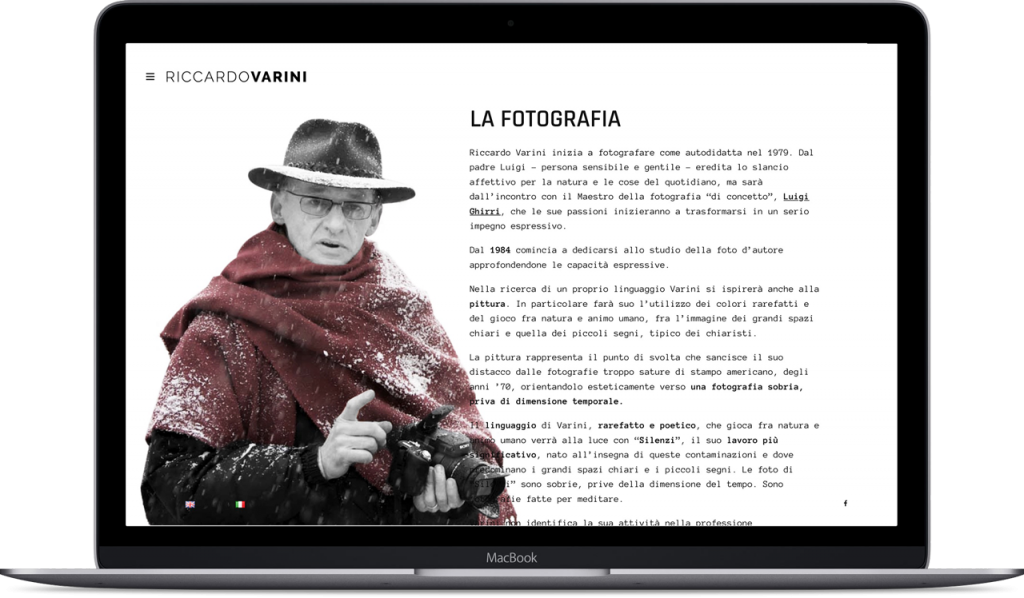 Mockup sito web riccardo varini - laptop