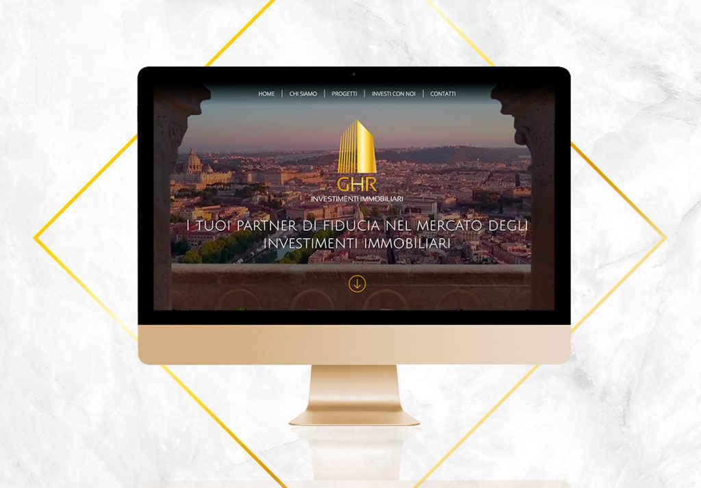 Sito web e restyling logo per GHR Investimenti immobiliari di Roma