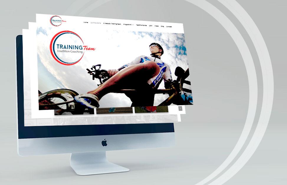 Mockup Sito web trainingteam