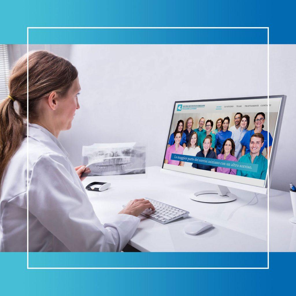 Il sito web di Centro Dentistico Emiliano mette in luce le diverse figure professionali che compongono il team
