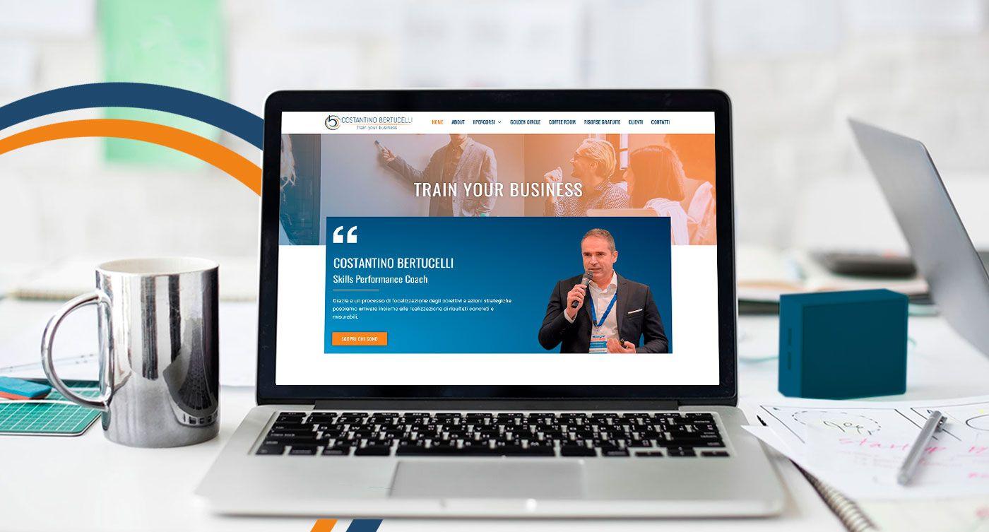 Homepage sito web Costantino Bertucelli
