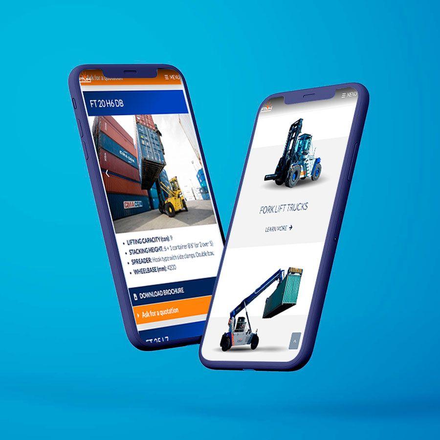 Visualizzazione sito web FTMH su smartphone