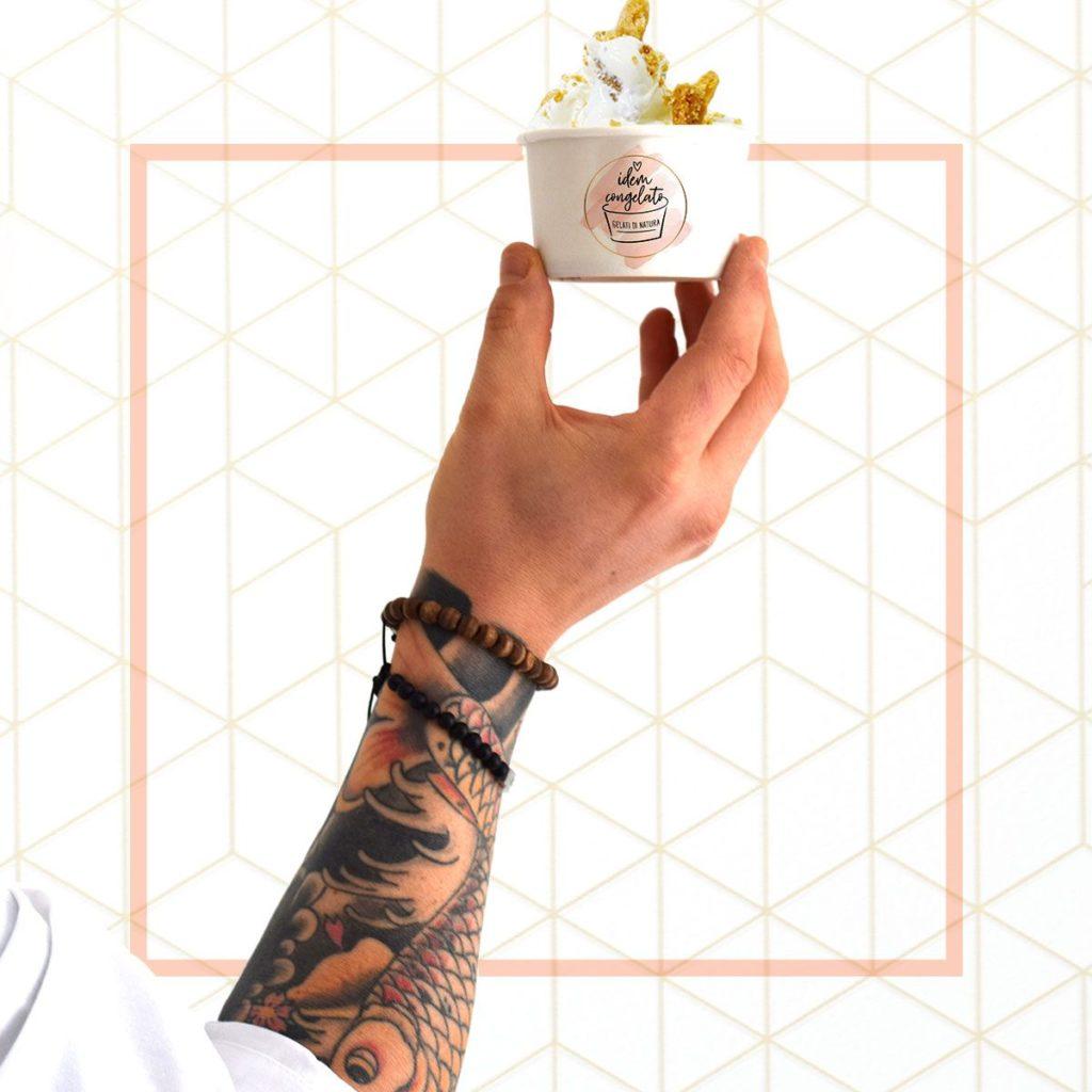 Coppetta con gelato di Idem Congelato