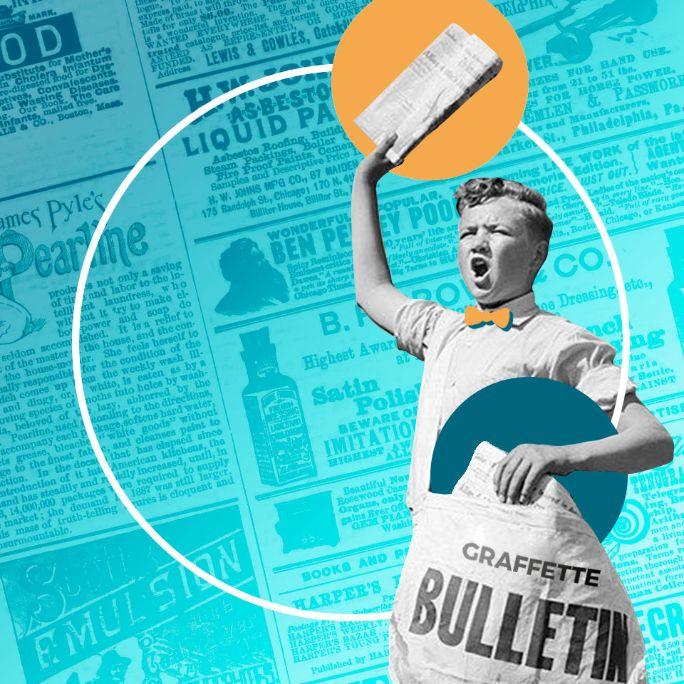 Venditore ambulante di giornali vende sales letter e landing page
