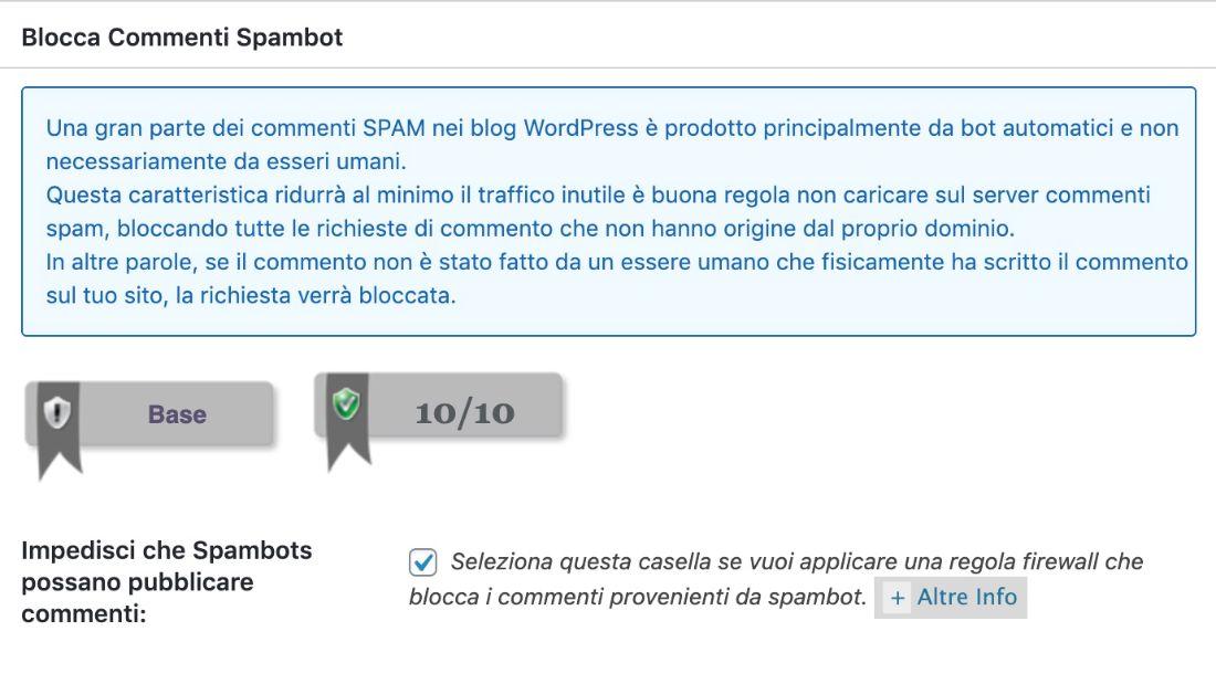 blocca commenti spambot