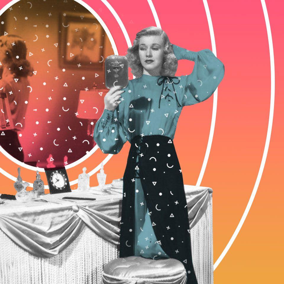 Ginger Rogers allo specchio
